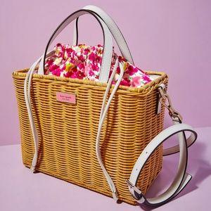 Kate Spade Sam Wicker Medium Satchel  Floral